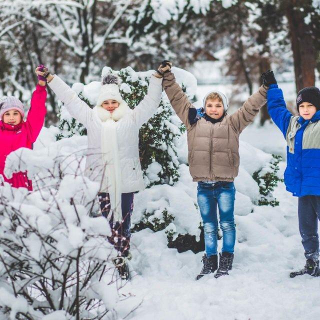 выпускной альбом зимняя фотосессия для школьников