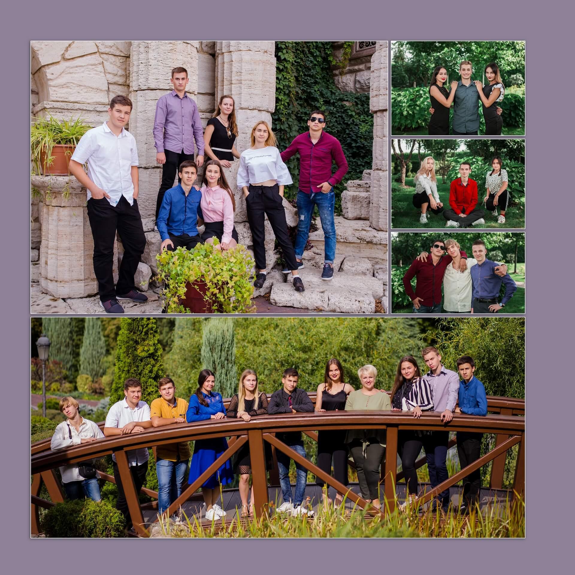выпускной альбом принтбук для 11 класса фотосессия школьников в Межигорье на выпускной альбом